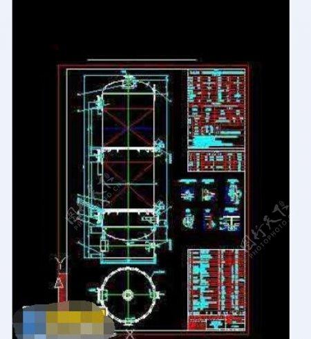 石油液化气脱硫塔整套cad施工设计图纸