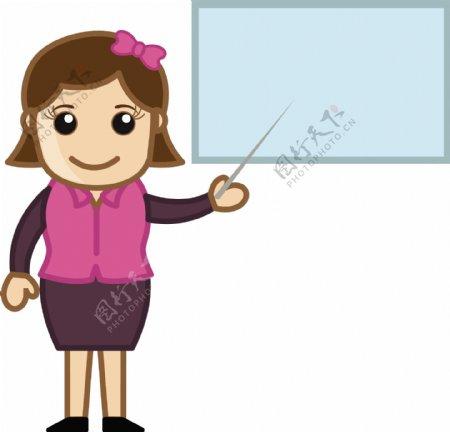 老师卡通商业矢量插图
