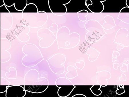 淡粉色的心