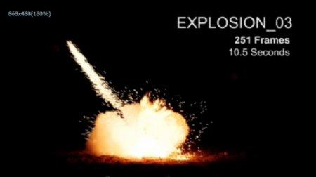 猛烈爆炸火星飞溅