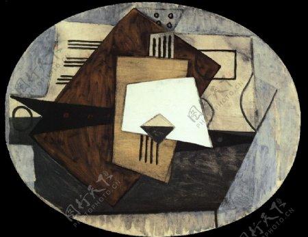1920Composition西班牙画家巴勃罗毕加索抽象油画人物人体油画装饰画