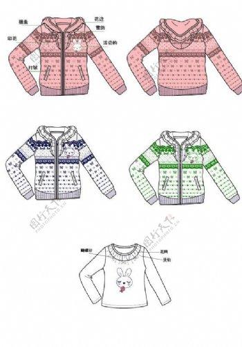 女童卫衣服装设计图片