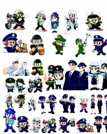 卡通警察位图图片