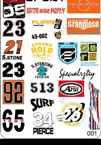23艺术字图案徽章图片