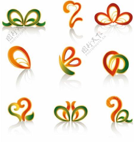 彩色蝴蝶绳图片