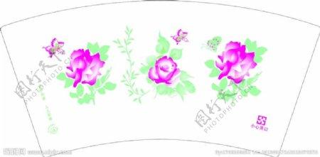 花纸杯图片