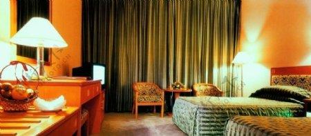 宾馆豪华标准间客房图片