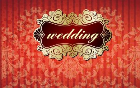 婚礼背景板图片