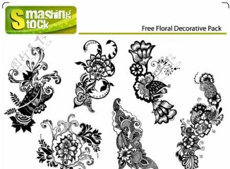黑白欧式古典花纹花边底纹含笔刷abr图片