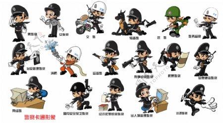 卡通警察形象图片