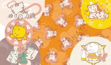可爱猫猫卡通图片