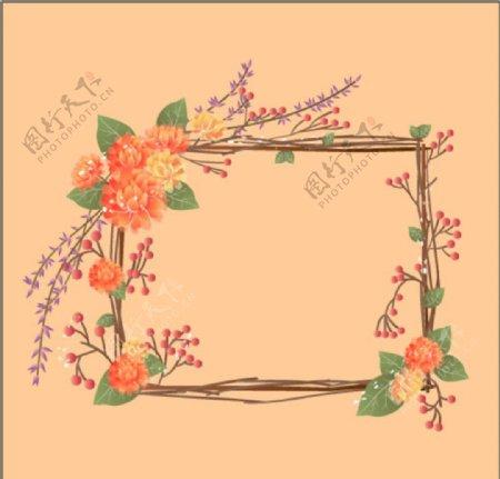 花朵花边图片