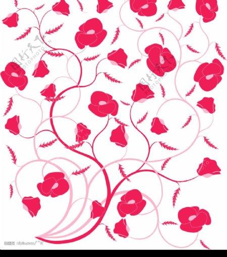 平铺花纹图片