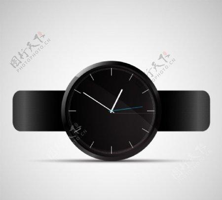 时尚黑色腕表矢量素材