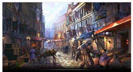 动漫欧洲风格场景壁纸