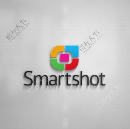 公司形象墙logo效果图贴图