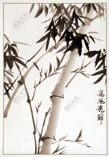 水墨竹子图图片