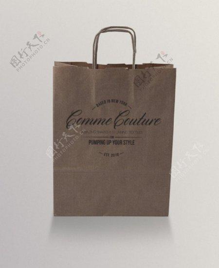 英文复古包装袋
