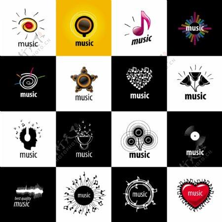 时尚图标音乐元素个性创意标志