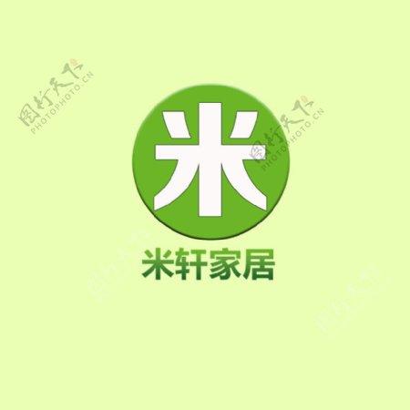 米轩家居logo商标