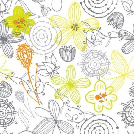 线条花背景素材