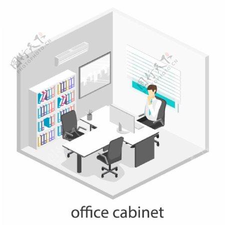 三个人的办公室设计图片