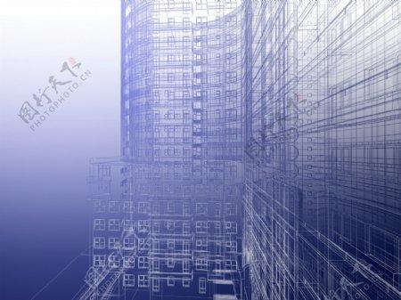 建筑线稿图图片