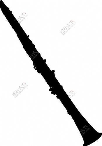 单簧管的剪影艺术剪辑