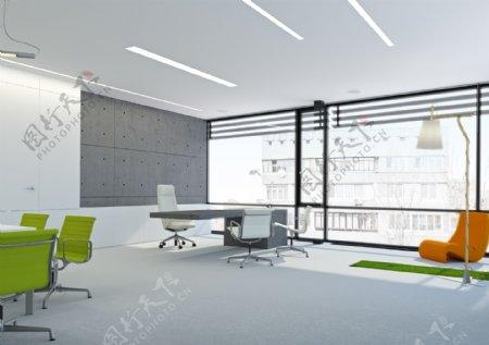 简洁现代办公室设计图片