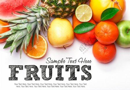 水果涂鸦海报图片