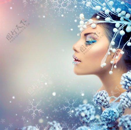 彩妆人体艺术头像图片