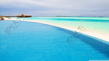 海边网站背景图
