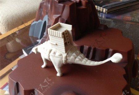 战斗恐龙3D打印模型