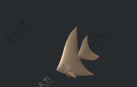 三角鱼3D打印模型