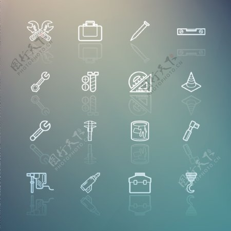 线条ico图标大全免费下载