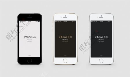iphone5S正面三色模版图片