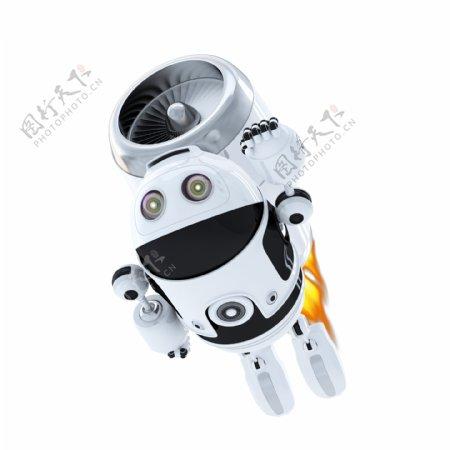 Android机器人喷气飞行器飞行