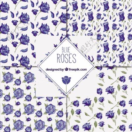 蓝玫瑰装饰图案