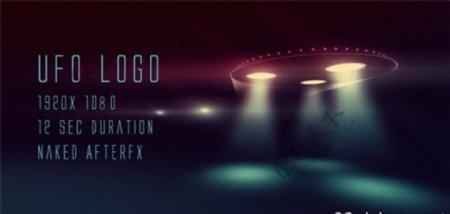 UFO飞碟Logo演绎动画AE模板