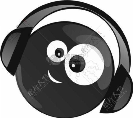 简洁的听音乐素材