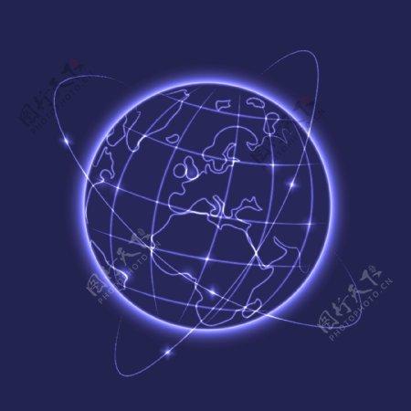 发光地球矢量图