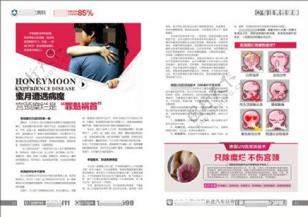 医疗杂志妇科杂志高端杂志宫颈糜烂