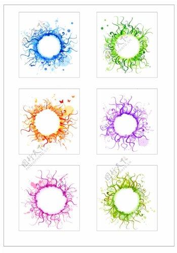 笔刷设计应用背景图案矢量素材AI格式0252