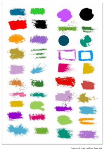 笔刷设计应用背景图案矢量素材AI格式0301