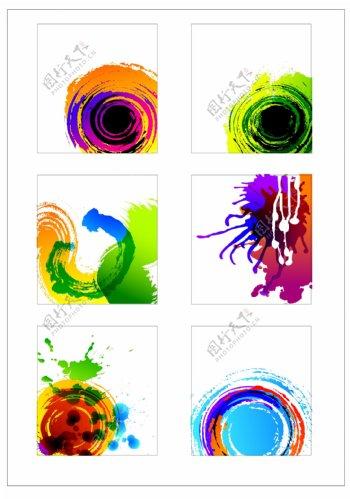 笔刷设计应用背景图案矢量素材AI格式0348