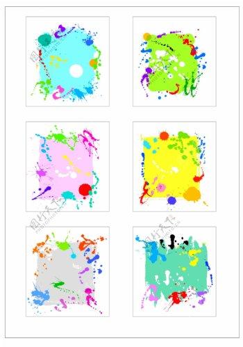 笔刷设计应用背景图案矢量素材AI格式0359