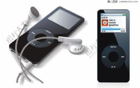 2款精致逼真的ipod矢量素材