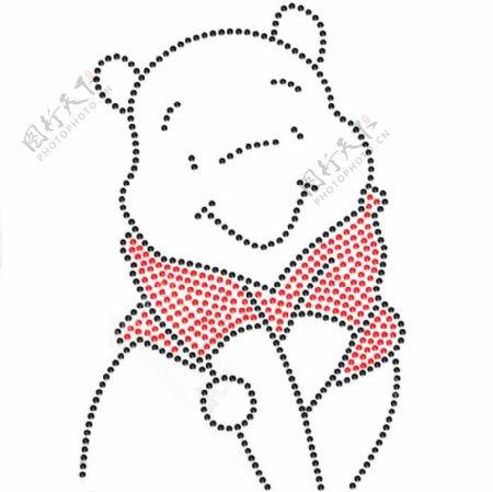 烫钻小熊维尼维尼熊免费素材