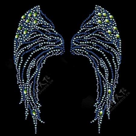 烫钻生活元素翅膀免费素材