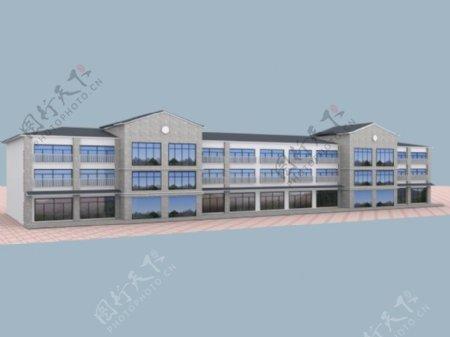 复式商贸综合楼3d模型素材